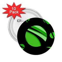Green balls   2.25  Buttons (10 pack)