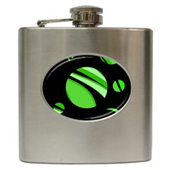 Green balls   Hip Flask (6 oz)