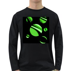 Green balls   Long Sleeve Dark T-Shirts