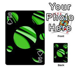 Green balls   Playing Cards 54 Designs