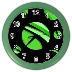 Green balls   Color Wall Clocks