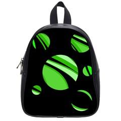 Green balls   School Bags (Small)