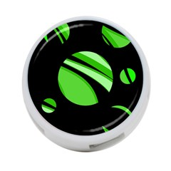 Green balls   4-Port USB Hub (Two Sides)