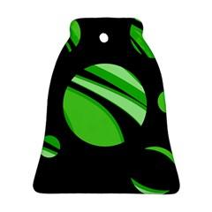 Green balls   Bell Ornament (2 Sides)
