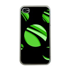 Green balls   Apple iPhone 4 Case (Clear)