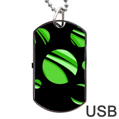 Green balls   Dog Tag USB Flash (Two Sides)