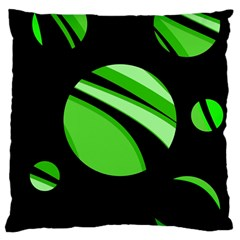 Green balls   Large Cushion Case (Two Sides)