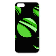Green balls   Apple Seamless iPhone 5 Case (Clear)