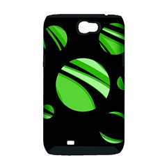 Green balls   Samsung Galaxy Note 2 Hardshell Case (PC+Silicone)