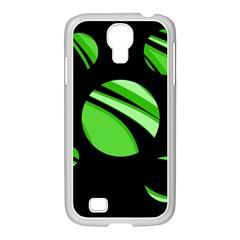 Green balls   Samsung GALAXY S4 I9500/ I9505 Case (White)