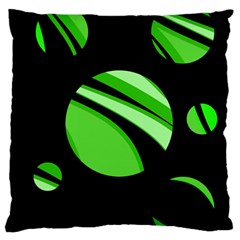 Green balls   Large Flano Cushion Case (One Side)