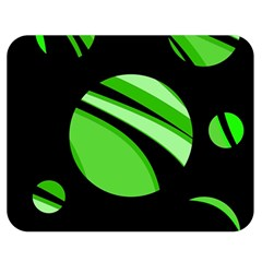 Green balls   Double Sided Flano Blanket (Medium)
