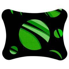 Green balls   Jigsaw Puzzle Photo Stand (Bow)