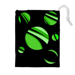 Green balls   Drawstring Pouches (Extra Large)