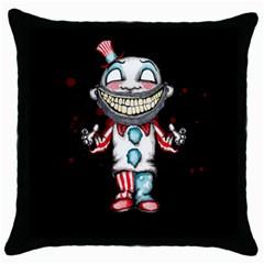 Super Secret Clown Business II  Throw Pillow Case (Black)
