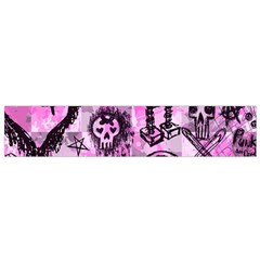 Pink Scene Kid Sketches Flano Scarf (Small)