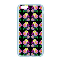 Rosa Yellow Roses Pattern On Black Apple Seamless iPhone 6/6S Case (Color)