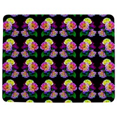 Rosa Yellow Roses Pattern On Black Jigsaw Puzzle Photo Stand (rectangular)