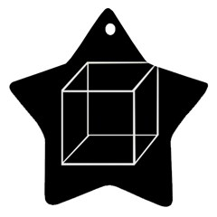 Simple Cube Ornament (Star)