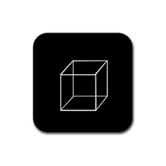Simple Cube Rubber Square Coaster (4 pack)