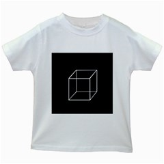 Simple Cube Kids White T-Shirts
