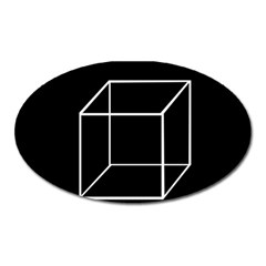 Simple Cube Oval Magnet