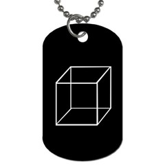 Simple Cube Dog Tag (Two Sides)