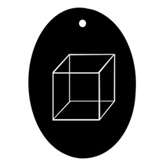 Simple Cube Oval Ornament (Two Sides)