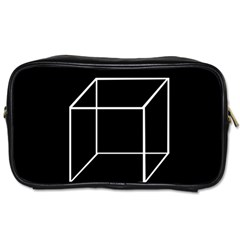 Simple Cube Toiletries Bags 2-Side
