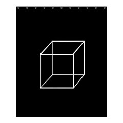 Simple Cube Shower Curtain 60  x 72  (Medium)