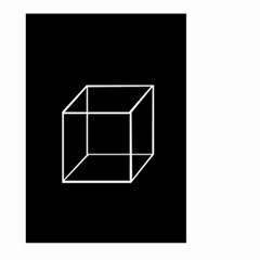Simple Cube Large Garden Flag (Two Sides)