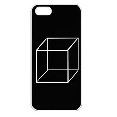 Simple Cube Apple iPhone 5 Seamless Case (White)