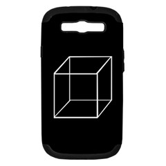 Simple Cube Samsung Galaxy S III Hardshell Case (PC+Silicone)