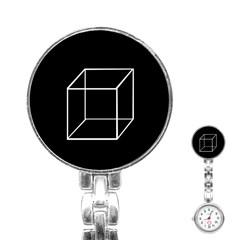 Simple Cube Stainless Steel Nurses Watch