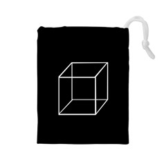 Simple Cube Drawstring Pouches (Large)