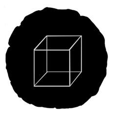 Simple Cube Large 18  Premium Flano Round Cushions