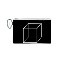 Simple Cube Canvas Cosmetic Bag (S)