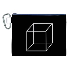 Simple Cube Canvas Cosmetic Bag (XXL)