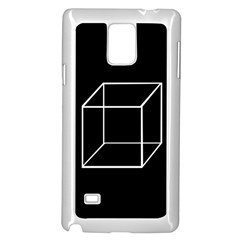 Simple Cube Samsung Galaxy Note 4 Case (White)