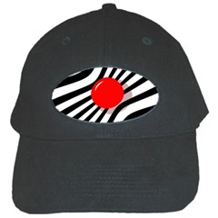 Abstract red ball Black Cap