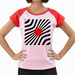 Abstract red ball Women s Cap Sleeve T-Shirt