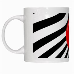 Abstract red ball White Mugs