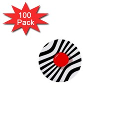 Abstract red ball 1  Mini Buttons (100 pack)