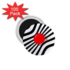 Abstract red ball 1.75  Magnets (100 pack)