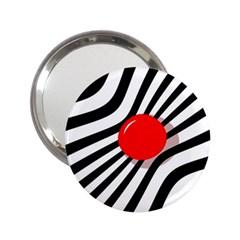 Abstract red ball 2.25  Handbag Mirrors