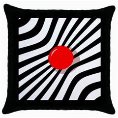 Abstract red ball Throw Pillow Case (Black)