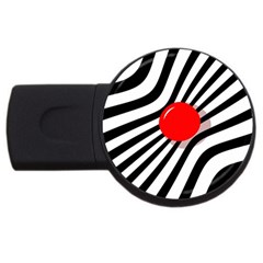 Abstract red ball USB Flash Drive Round (1 GB)
