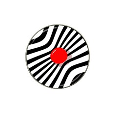 Abstract red ball Hat Clip Ball Marker