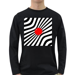 Abstract red ball Long Sleeve Dark T-Shirts