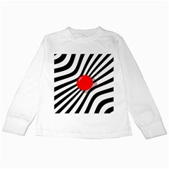 Abstract red ball Kids Long Sleeve T-Shirts